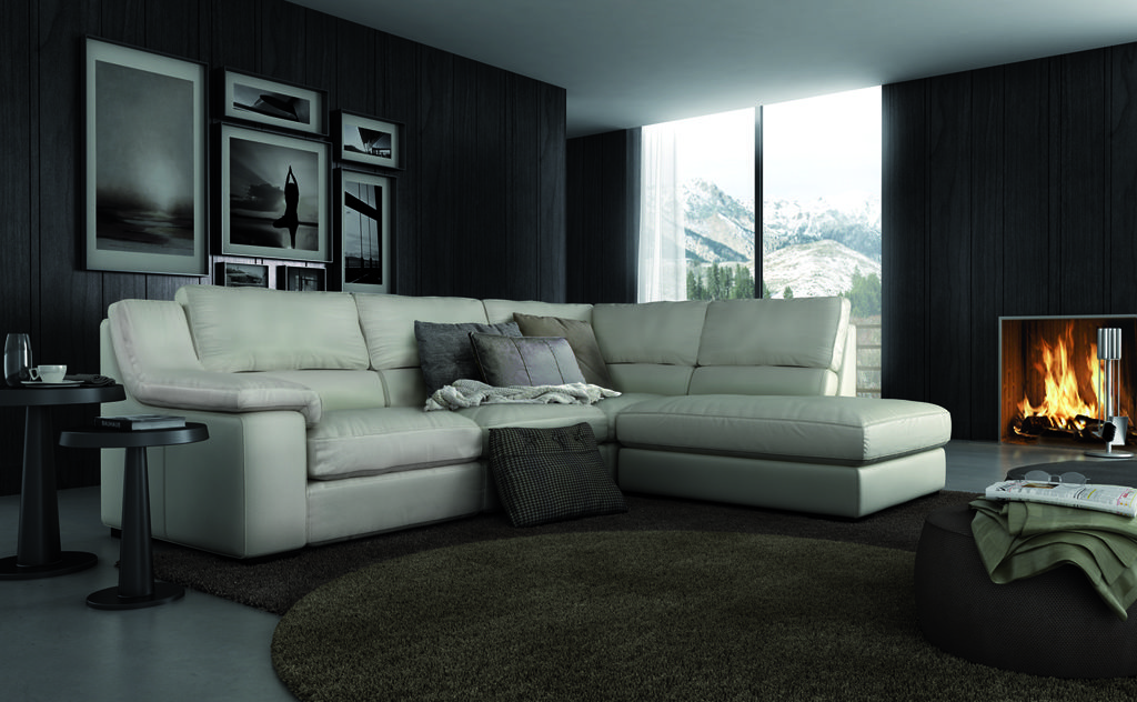 sofa isi rinconera chaise longue piel relax electrico Muebles